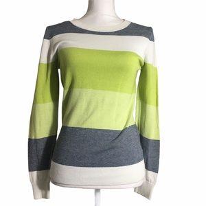 downeast striped lightweight knit sweater. Medium